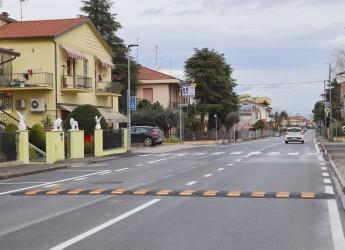 Santarcangelo d/R. Terminati i lavori per rendere più sicura via Ugo Bassi. Controlli della Polizia locale.