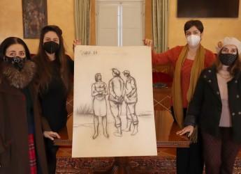 Santarcangelo d/R. Donato al Comune dalle sorelle Miresa e Vilma Turci un carboncino del padre Giulio.
