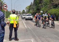 Massa Lombarda. La Protezione civile impegnata nel Giro di Romagna. Assistenza e informazioni.