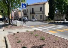 Santarcangelo d/R. Attraversamenti e fermate autobus in viale Marini, conclusi i lavori di riqualificazione.