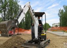 Faenza. Skate park: partiti i lavori. Dopo i rilevamenti tecnici avviato  lo scavo per le nuove superfici.
