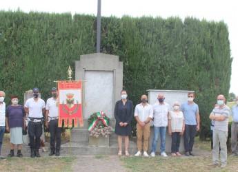 Forlì. Onore alle vittime dell'eccidio di Pievequinta. Una corona  per le 10 vittime del 26 luglio 1944.