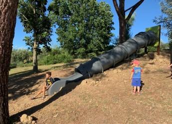 Bertinoro. Inaugurato il parco di via Maroncelli a Fratta. Per gli incontri di famiglie e i giochi dei bambini.