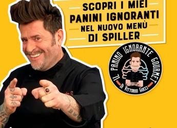 Riccione. E voilà il ' Panino ignorante gourmet'! Vittorio Gucci, primo musical-chef Italiano.