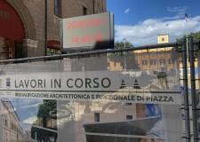 Cesena. Cantiere 'Tre piazze', installato il ledwall. Aggiornerà i cittadini sullo stato dei lavori.