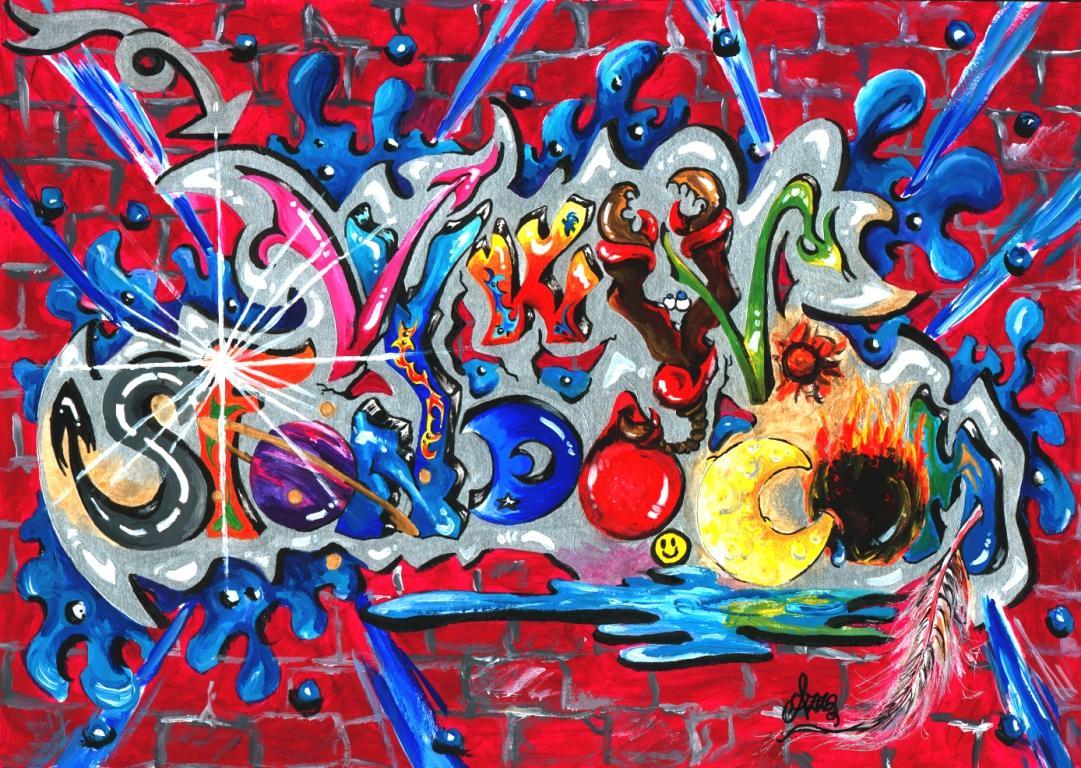 Via libera a spray e vernici santarcangelo colora la for Murales per cucina
