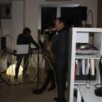 la sera dell'apertura della Fabbrica delle caramelle al T&T Studio