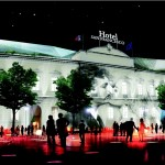 Elaborazione grafica hotel in piazza Ganganelli