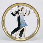 Eugenio colmo (Golia), Ballerini di charleston, 1927, terraglia decorata a piccolo fuoco